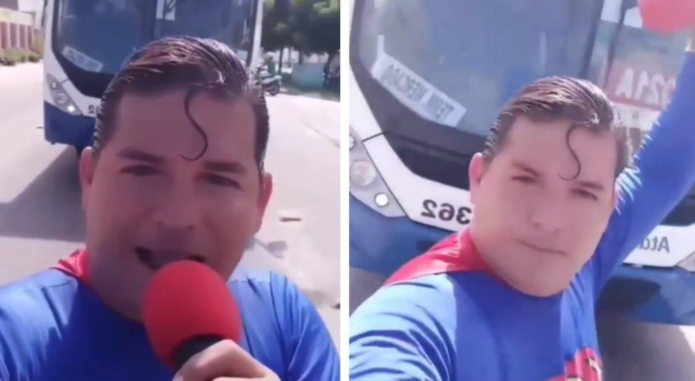'Superman de Aracaju' é atropelado, mas escapa ileso