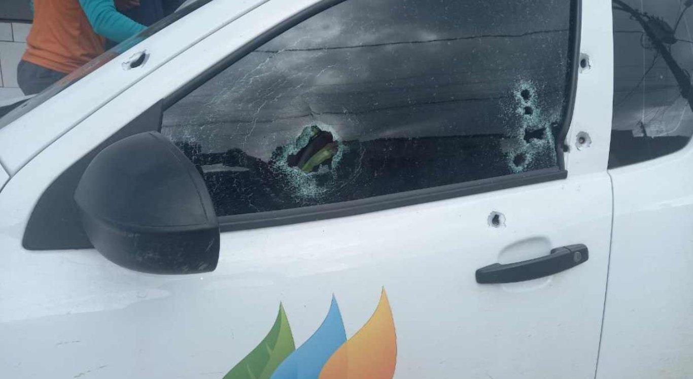 Os funcionários da Celpe foram alvejados por tiros de arma de fogo