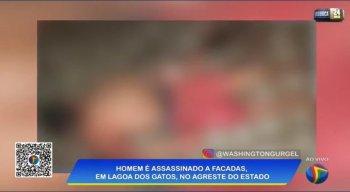 Corpo da vítima foi encontrado em calçada na cidade de Lagoa dos Gatos.