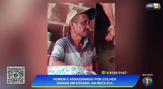 Pai de seis filhos é assassinado após colher manga em sítio na Mata Sul de Pernambuco