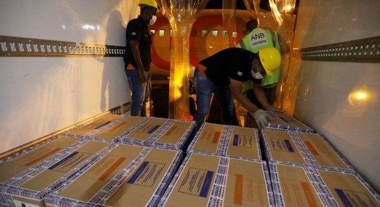Covid-19: Pernambuco recebe o maior lote de vacinas da Pfizer