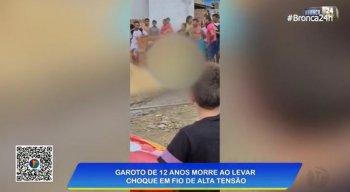 Garoto de 12 anos morreu vítima de um choque elétrico, após um fio de alta tensão se romper, em Mamanguape, na Paraíba.