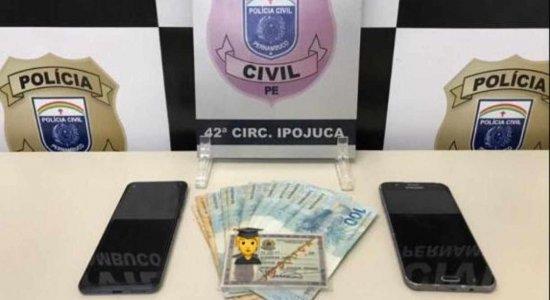 Homem é preso após causar tumulto em resort e usar carteira falsa de 'promotor federal' em Ipojuca