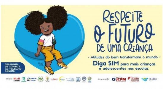 Entidades de proteção à crianças e adolescentes junto ao Grupo JCPM e RioMar Recife lançam campanha contra trabalho infantil