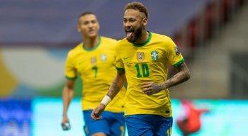 Neymar marcou o segundo gol da vitória da seleção brasileira