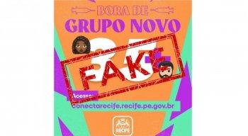 Card mentiroso anuncia vacinação que não existe para maiores de 35 anos no Recife