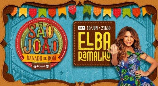 Forró de verdade é marca de Elba na live-show da TV Jornal