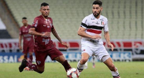 Santa Cruz perde para o Ferroviário e segue sem vencer na Série C