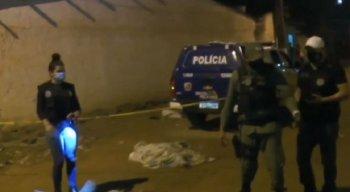 O crime foi registrado por câmeras de segurança da Rua José Mendes Pinto