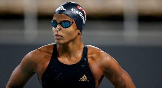 Etiene Medeiros fica apta para nadar os 50m livre nos Jogos Olímpicos de Tóquio
