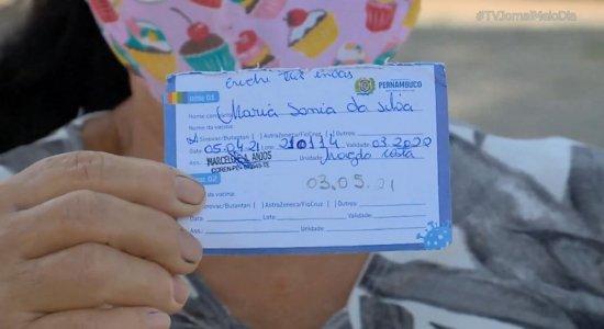 Em Igarassu, população reclama da espera pela segunda dose da vacina contra a covid-19