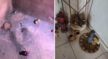 Fotos mostram que casa de Lázaro Barbosa tem itens que indicam bruxaria e rituais, diz polícia
