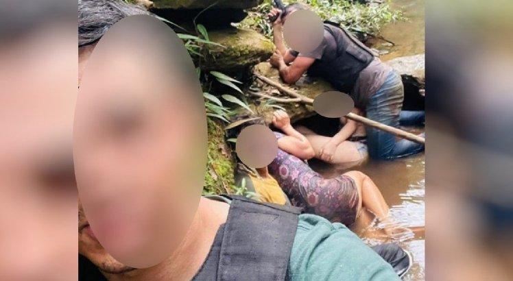 A família se escondeu de Lázaro em um córrego durante o resgate