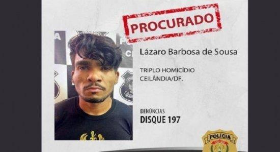 Lázaro tem 32 anos e uma longa ficha criminal que inclui homicídio, estupro, roubo, latrocínio e porte ilegal de arma de fogo.