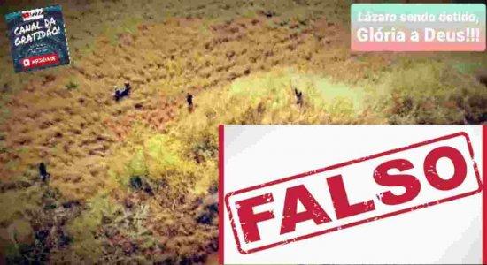 É falso vídeo que circula no WhatsApp mostrando suposta captura de Lázaro Barbosa, o serial killer de Brasília