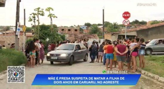 Mãe é presa suspeita de matar a própria filha de dois anos de idade em Caruaru