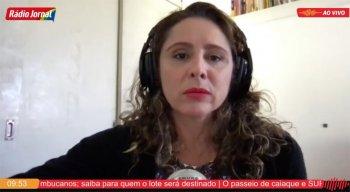 Fabíola Góis, correspondente da Rádio Jornal