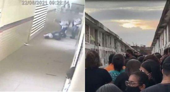 Saudade, dor e revolta marcam enterro de adolescente morto após 'brincadeira de luta' dentro de escola em Jaboatão