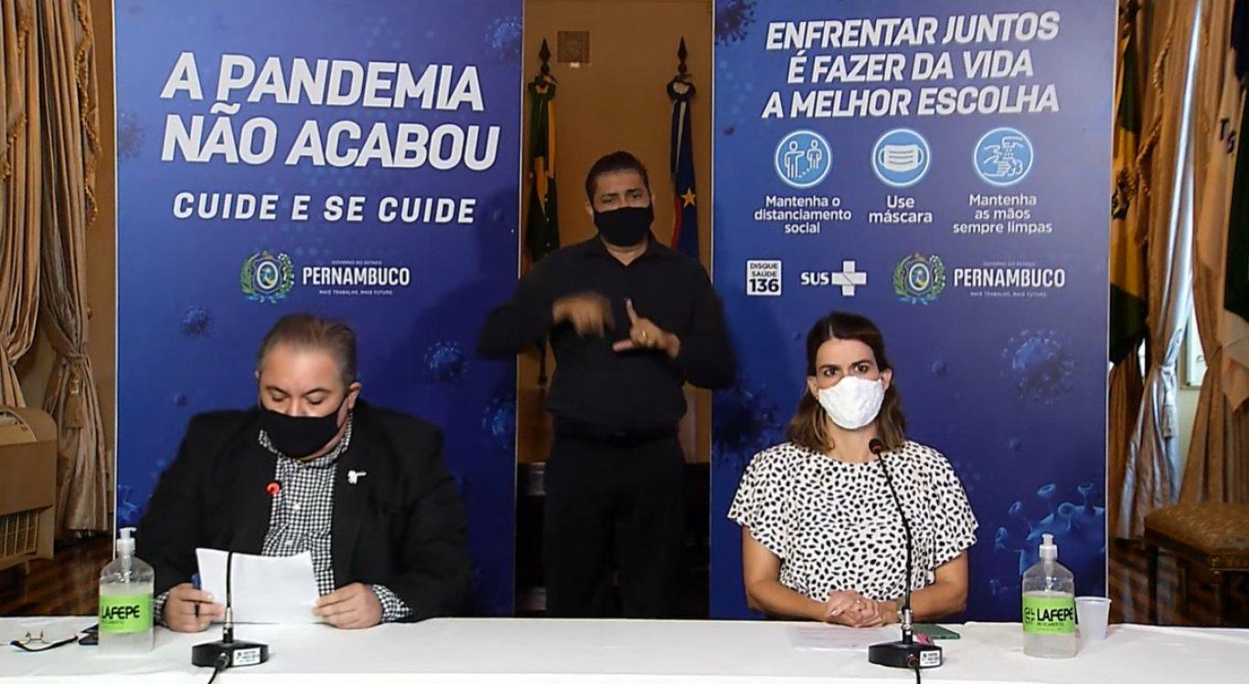 Secretária executiva de Desenvolvimento Econômico, Ana Paula Vilaça, e o secretário estadual de Saúde, André Longo, fizeram o anúncio durante coletiva