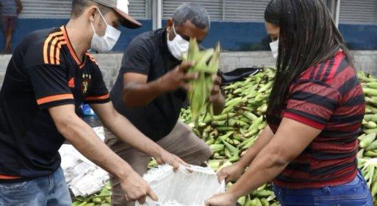 Comerciantes do Ceasa baixam o preço do milho para não perder produto