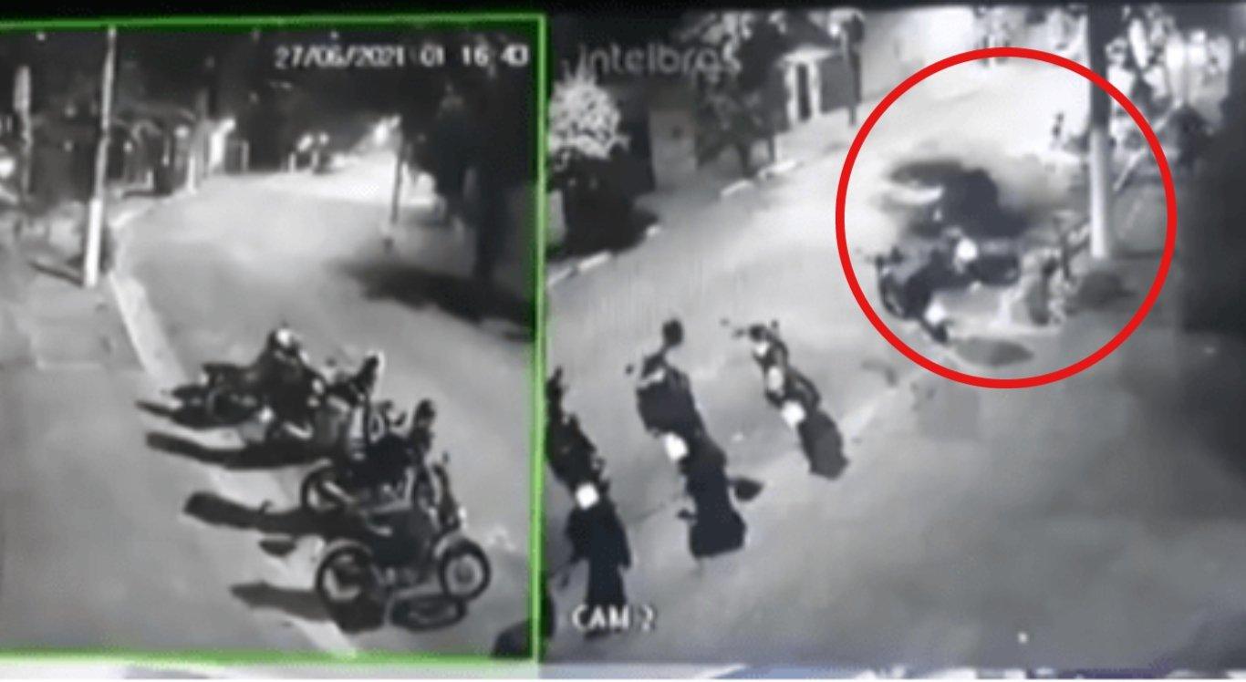 A mulher atropelou ao menos 7 motos, deixou um morto e um ferido
