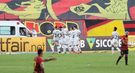 Sport perde para o Palmeiras e corre risco de entrar na zona do rebaixamento ao final da rodada