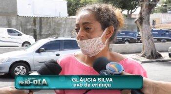 Gláucia Silva, avó da criança durante entrevista ao repórter Mário Oliveira, da TV Jornal