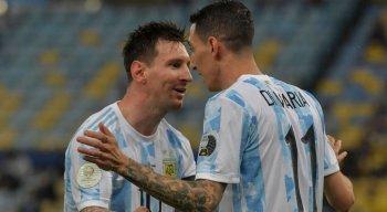 Di María marcou o gol do título da seleção argentina