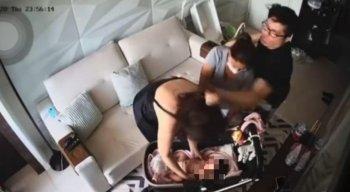 Mulher que presencia agressões de DJ Ivis é a mãe de Pamella Holanda.