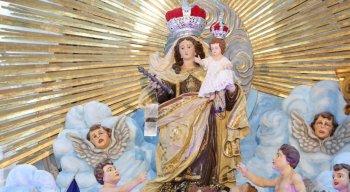 Imagem de Nossa Senhora do Carmo, na Basílica do Carmo, centro do Recife