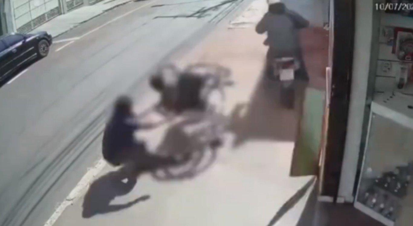 O cadeirante foi atropelado em São Paulo enquanto estava na calçada
