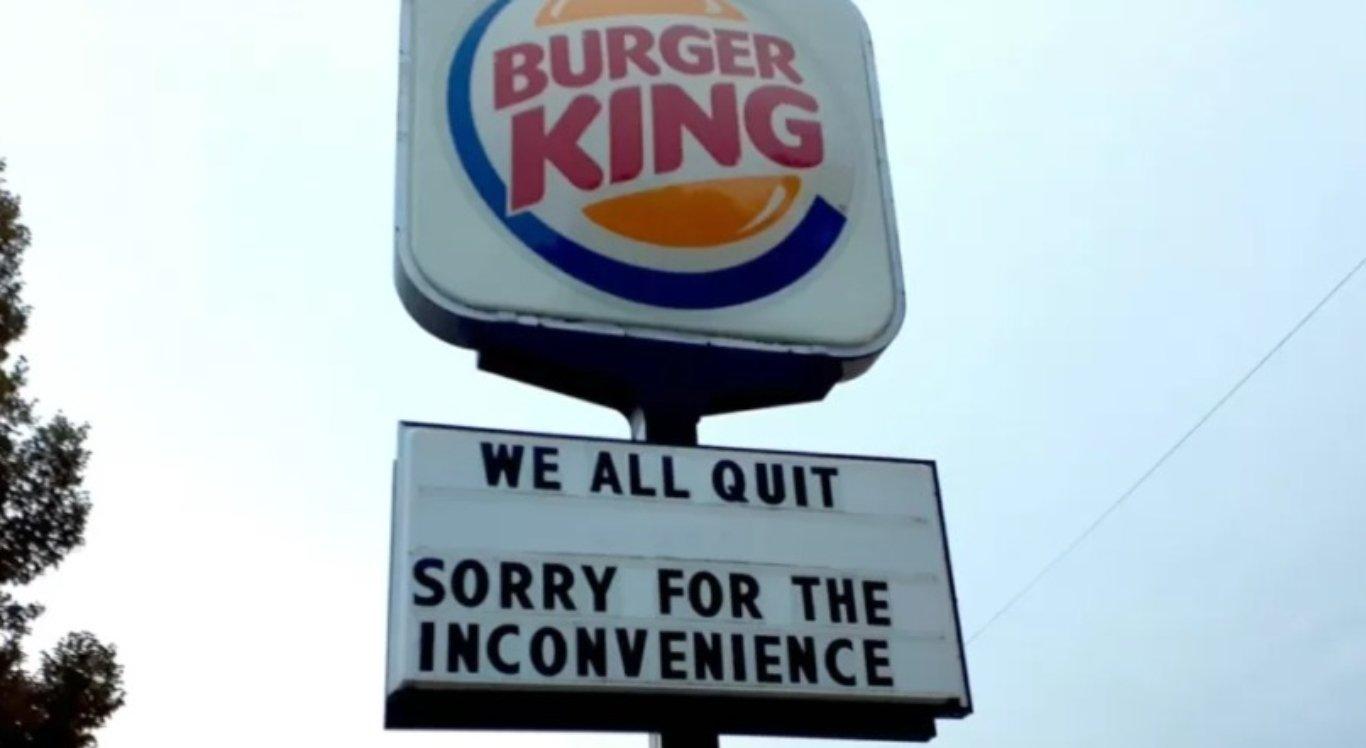 Funcionários do Burger King pedem demissão em massa nos EUA
