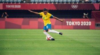 Marta marcou dois gols na estreia do Brasil nos Jogos de Tóquio