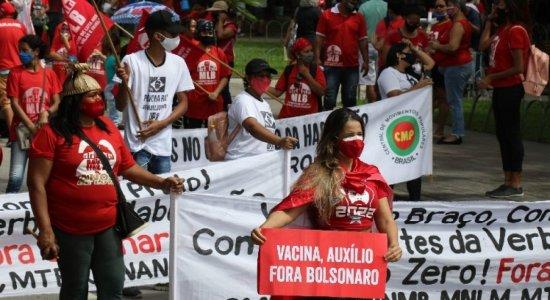 Recife volta a ter manifestação contra o governo de Bolsonaro e a favor da democracia; é o quarto em três meses
