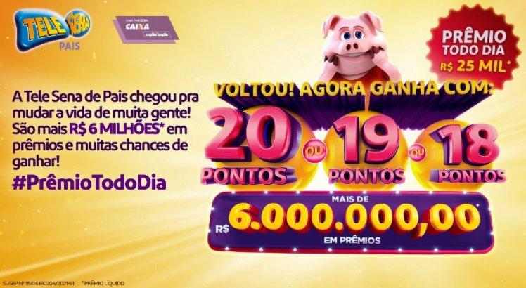 Confira o resultado do 2º sorteio da Tele Sena de Pais (01/08/2021)