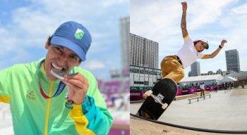 Kelvin Hoefler e Leticia Bufoni integraram a equipe de skate do Brasil nas Olimpíadas de Tóquio.