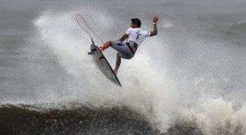 Gabriel Medina conquistou nota 9, a segunda melhor no torneio olímpico de surfe