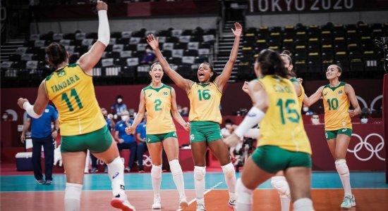 Seleção Feminina de vôlei do Brasil enfrenta o Japão