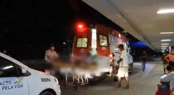 Uma viatura da PM foi acionada para escoltar a ambulância.