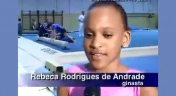 Rebeca Andrade começou na ginástica olímpica desde criança