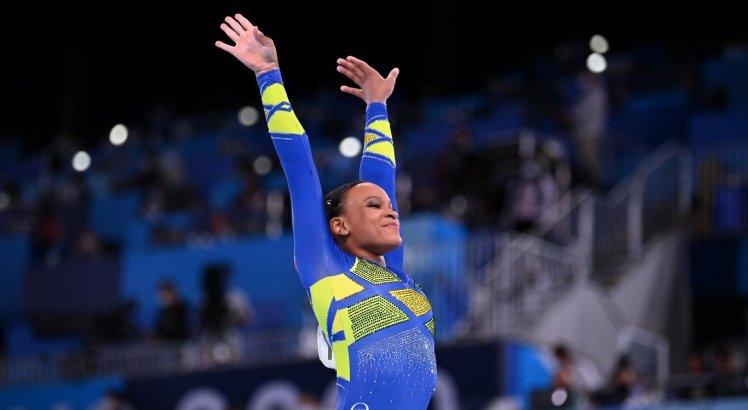 Rebeca Andrade não ganha medalha na prova de solo da ginástica nas Olimpíadas de Tóquio