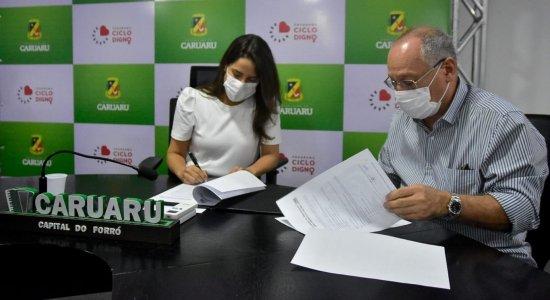 A adoção do canteiro aconteceu em parceria com a Prefeitura de Caruaru