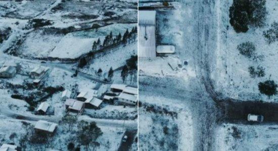Cambará do Sul coberta de neve