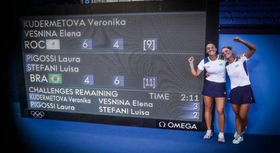 VÍDEO: Nas Olimpíadas, Stefani e Pigossi ganham bronze inédito no tênis e Brasil sobe no quadro de medalhas; assista vitória