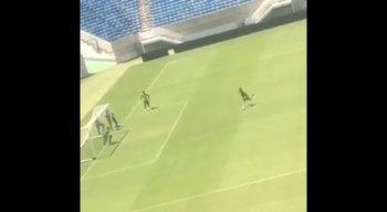 Vídeo do ABC em treino de pênaltis na Arena das Dunas viralizou nas redes sociais