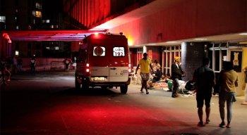 O homem esfaqueado foi levado para o Hospital da Restauração