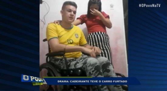 Jovem cadeirante que usava carro para trabalhar tem veículo furtado; saiba como ajudar