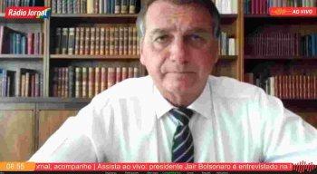 Presidente Jair Bolsonaro em entrevista à Rádio Jornal