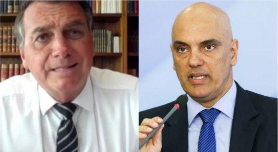 Nessa briga estou praticamente sozinho, diz Bolsonaro após presidente do Senado arquivar pedido de impeachment de Moraes