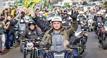 Bolsonaro em motociata em agosto em Santa Catarina